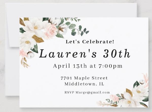 Mini Birthday Party Invitation