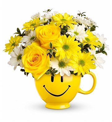 Be Happy Bouquet, Smiley Face. Happy Face Party Planning, Ideas & Supplies