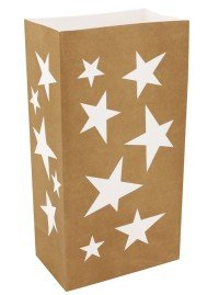 Gold Star Luminaria Bags