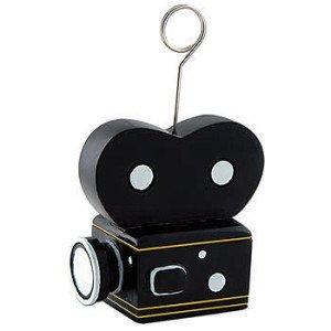 Movie Camera Balloon Holder