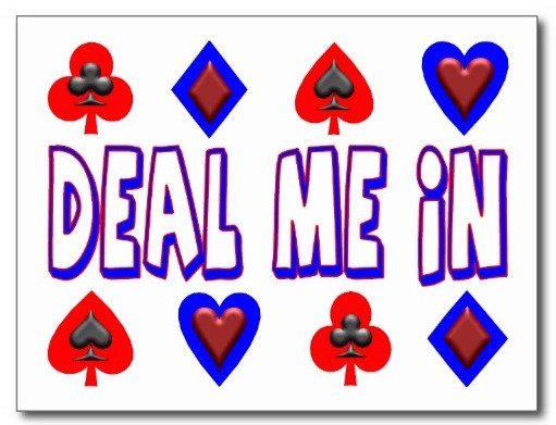 Card Game Party Planning, Ideas & Supplies, deal me in playing cards postcards