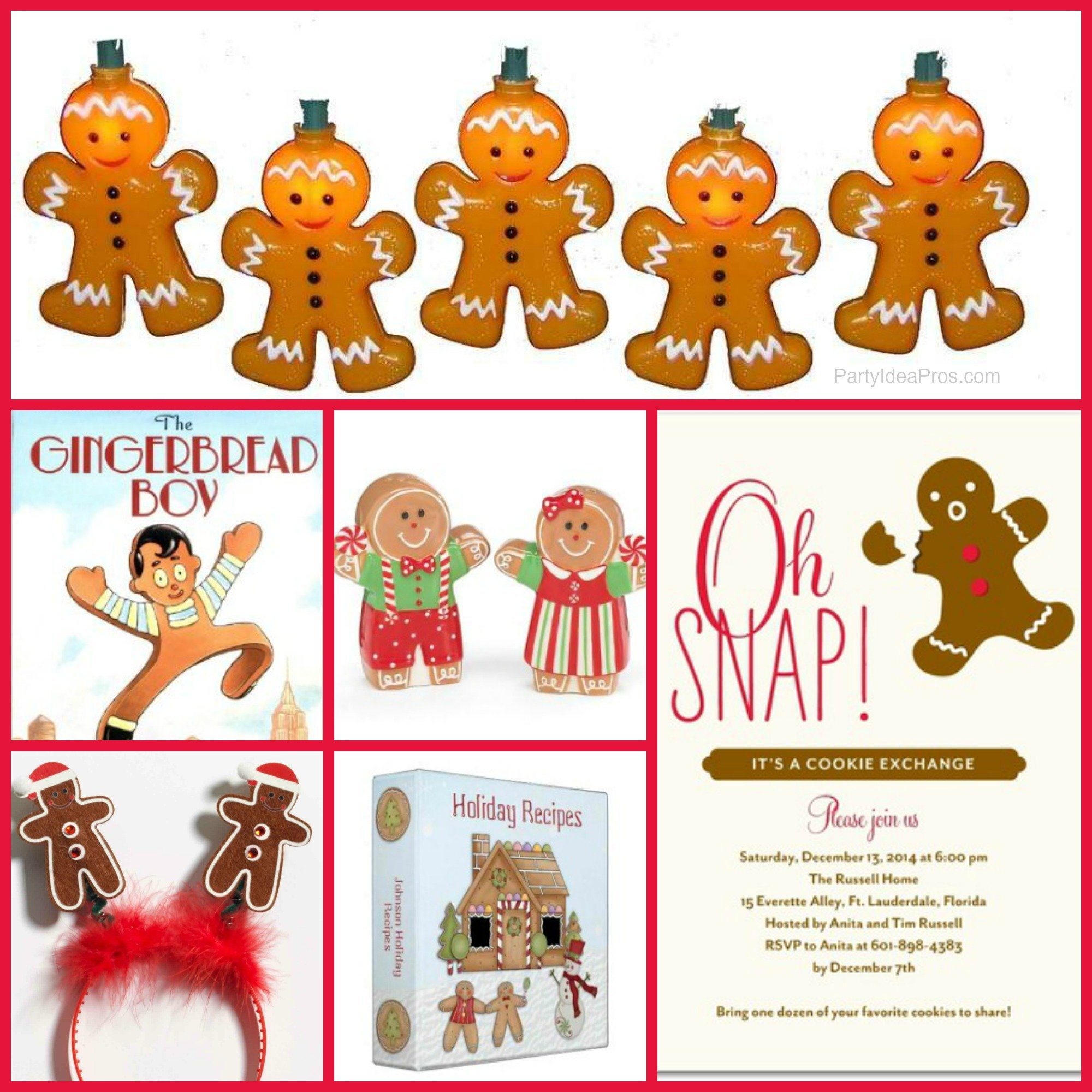 Gingerbread Party Planning Ideas & Supplies