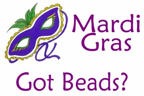 Mardi Gras Got Beads Mask Invitation