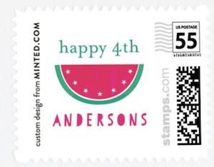 American Watermelon Custom Stamp
