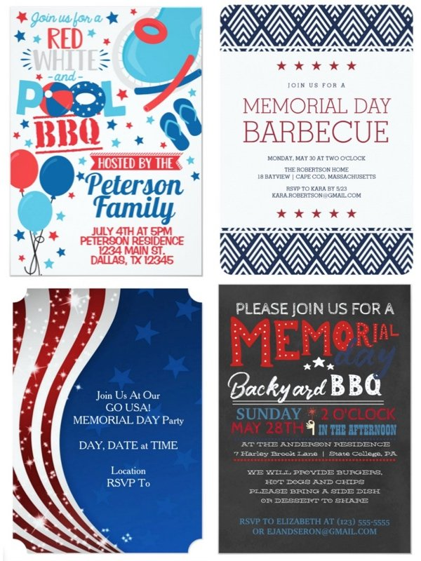 Memorial Day Party Invitations