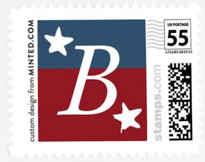 Patriotic Custom Stamp