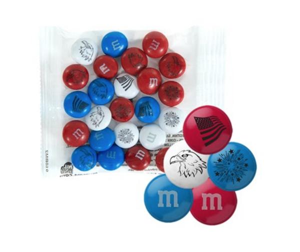 Patriotic M&M Party Favor Packs