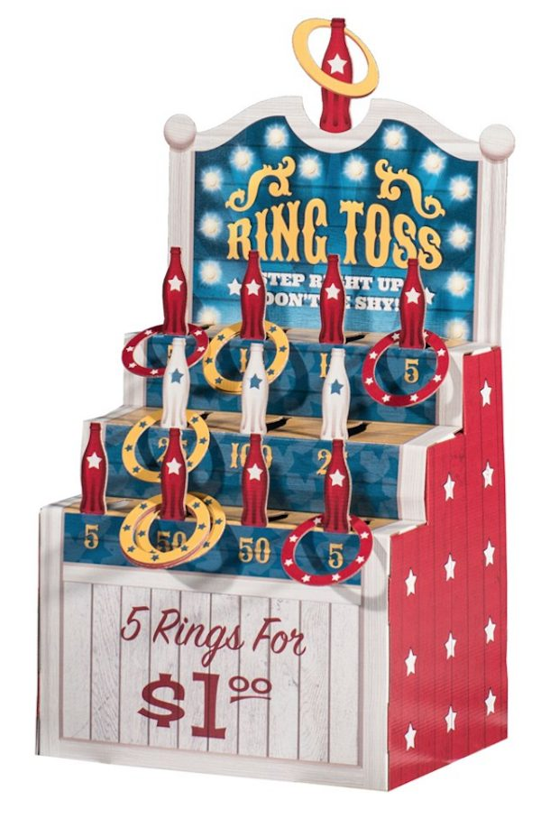 Red Blue Stars Carnival Ring Toss