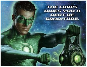 Green Lantern Thank You Notes