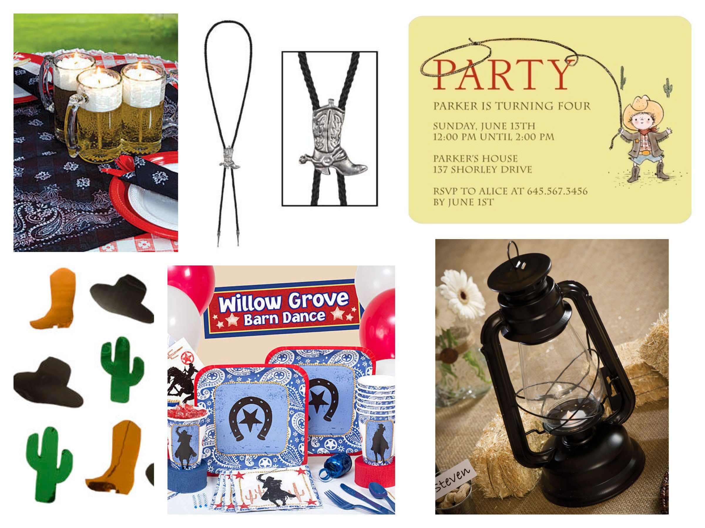 Western Cowboy Party Supplies