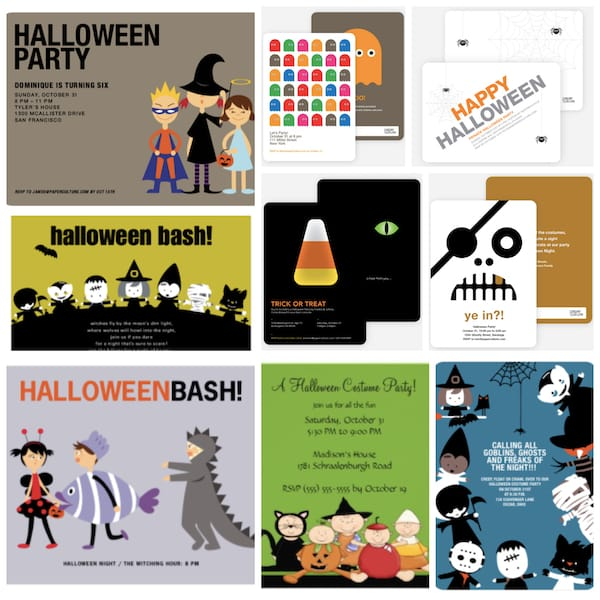 Adorable Halloween Party Invitations