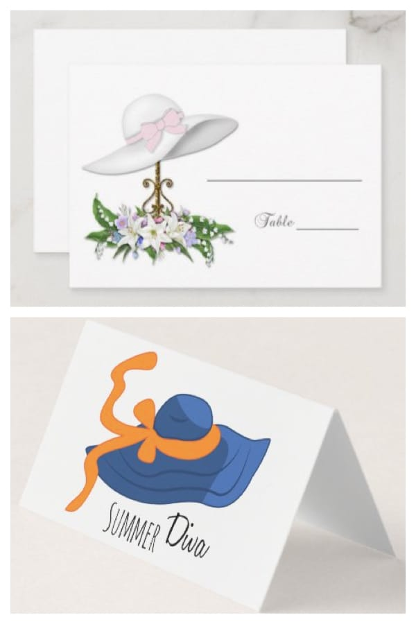 Hat Themed Place Cards