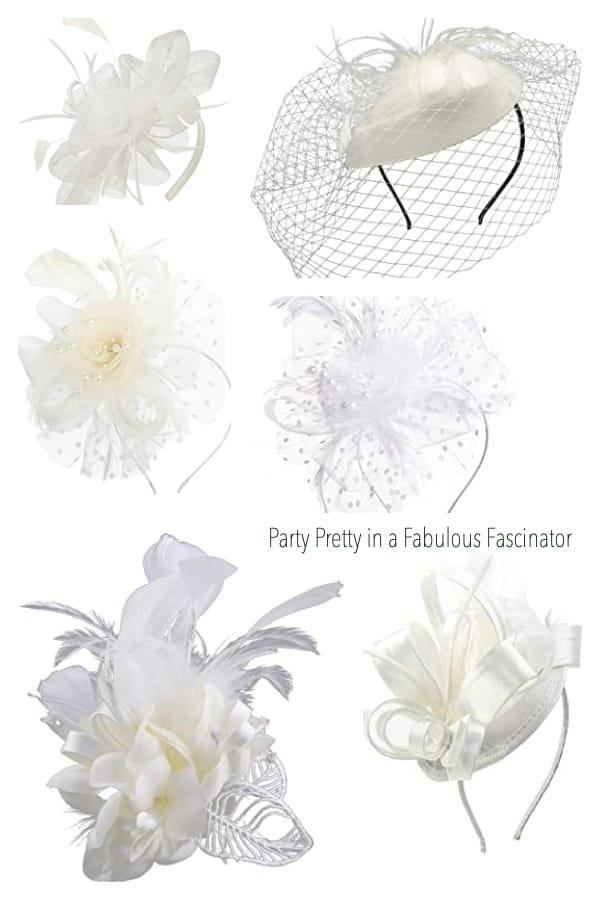 Party Pretty in a Fabulous White Fascinator