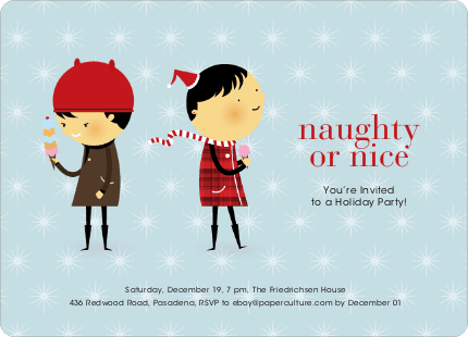 Naughty or Nice Holiday Party Invitations