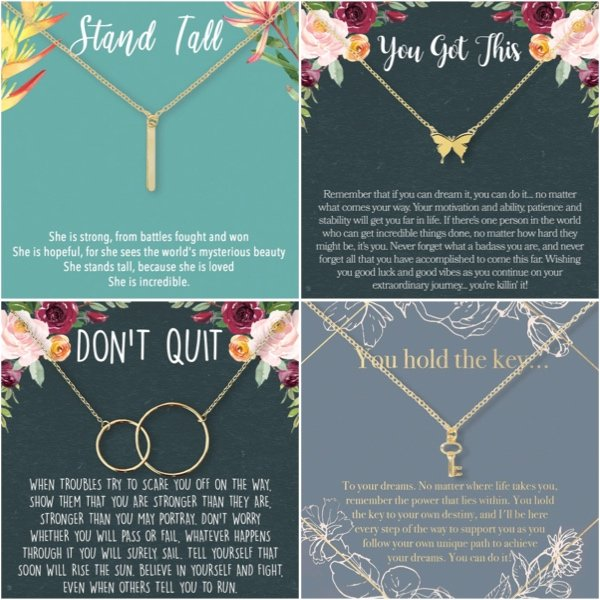Dear Ava Inspirational Necklaces
