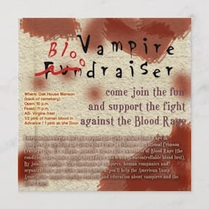 Vampire Bloodraiser Invitation