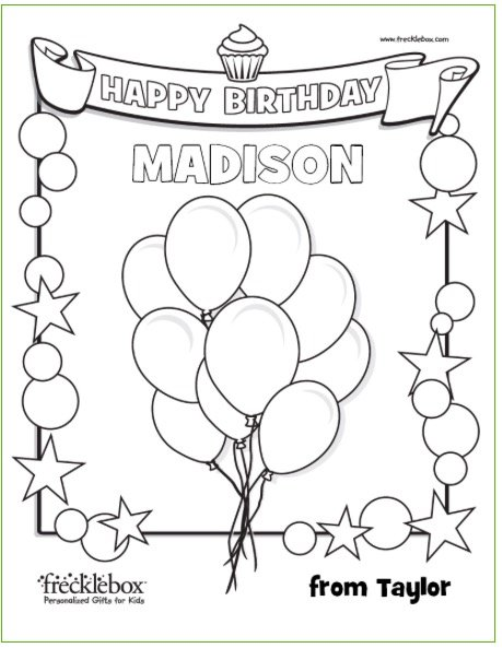 FREE Personalized Printable Coloring