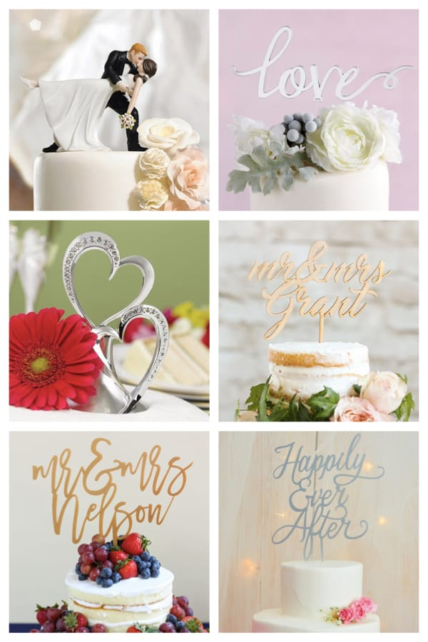 Popular Wedding Cake Toppers