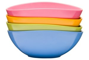Assorted Parrot Stackable Bowls