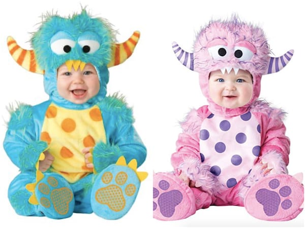 Baby Blue and Baby Pink Little Monster Costumes