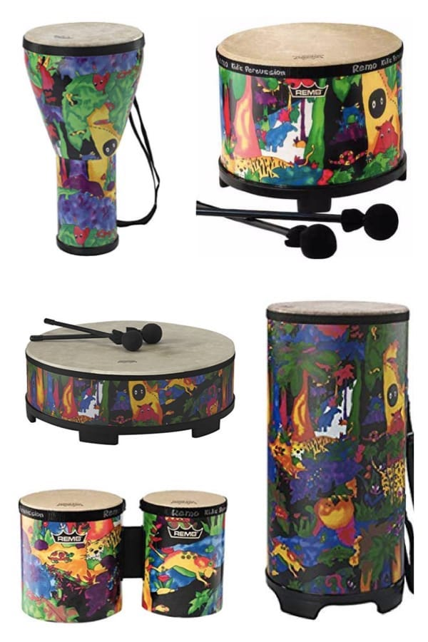 Kids Percussion Gathering Drums