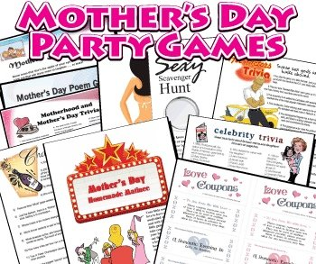 Printable Games for Mother's Day
