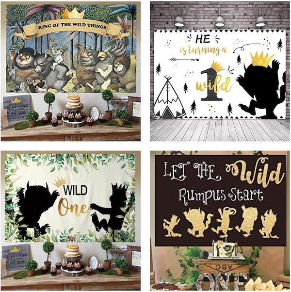 Where the Wild Things are Party Backdrops