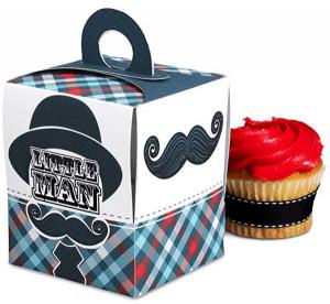 Mustache Cupcake Box