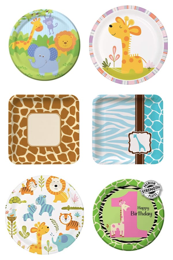 Giraffe Baby Shower and Birthday Party Plates