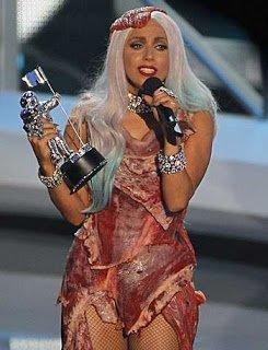 Lady Gaga Wearing Bacon