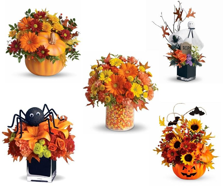 Halloween Floral Centerpieces, Halloween party decor