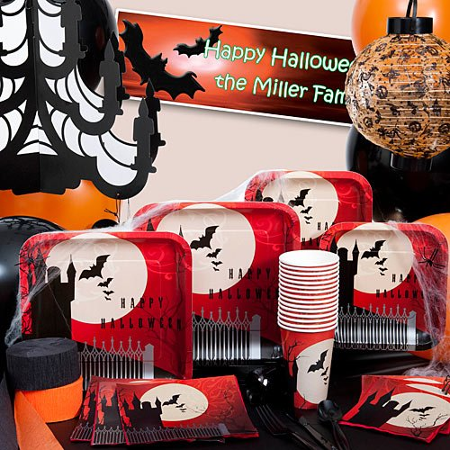 Halloween Party Supplies, paper goods, decorations, spooky Halloween