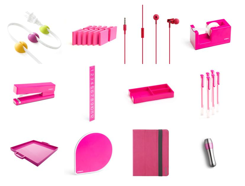 Think Pink, Think Poppin, office supplies, tech products, pink office products, pink ribbon, breast cancer awareness