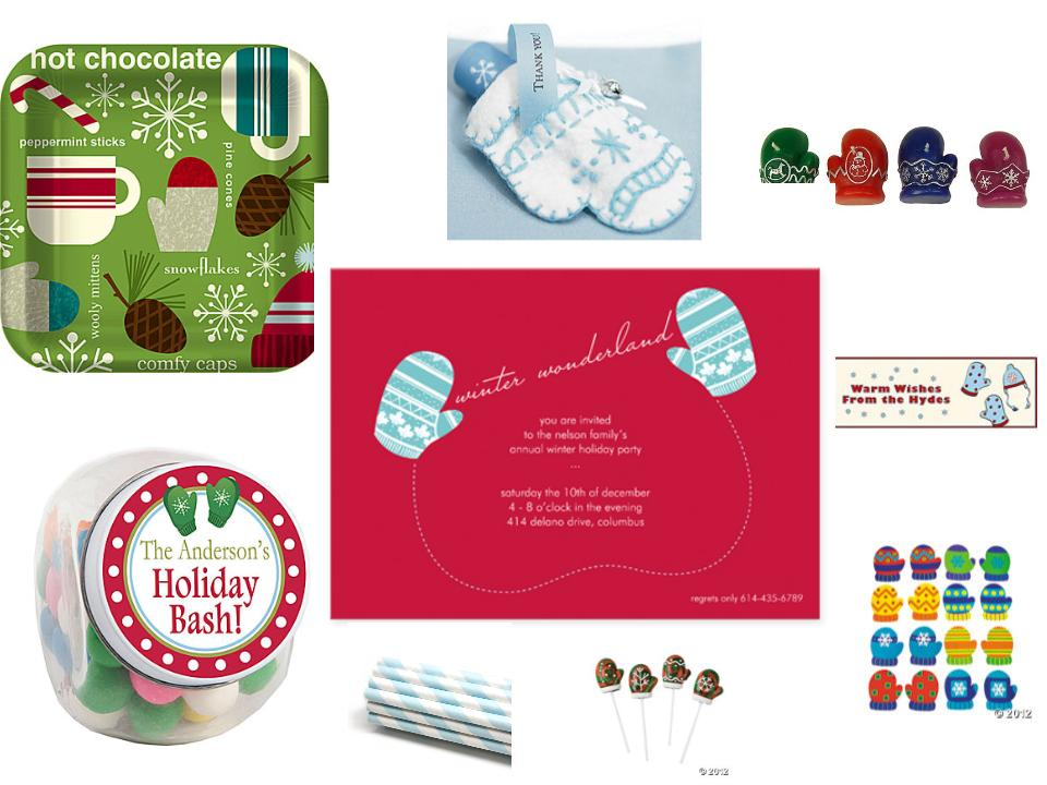 Winter Wonderland Mitten Theme Party Planning, Ideas & Supplies, holiday party, Christmas party, Quinceanera, Sweet Sixteen
