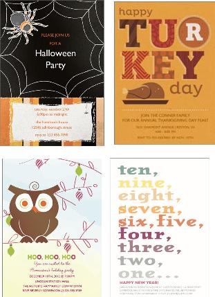 30% OFF Invitations & Cards at Wishing Tree Designs, holiday cards, Halloween invitations, holiday party invitations, invitations
