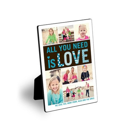 All You Need Is Love Easel Art, holiday gifts, personalized desk art, gift for dad, gift for mom, grandparent gift, teacher gift,
