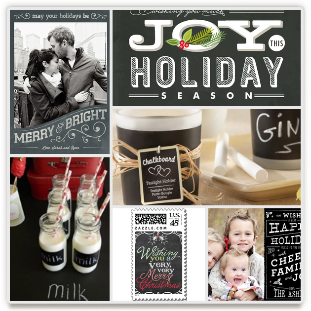 Chalkboard Chic Holiday Cards and Inspiration