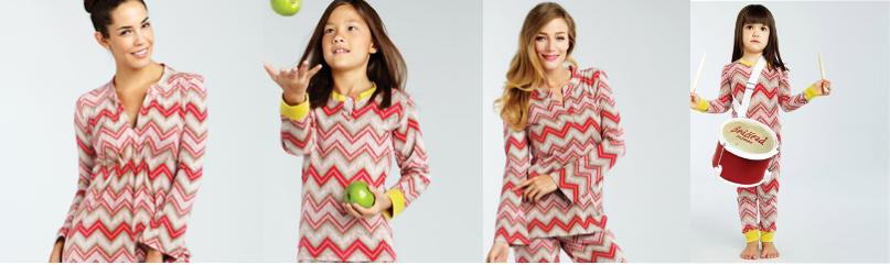 Mommy Me Matching Chevron Pajamas, holiday gifts, sale pajamas, bedhead pajamas