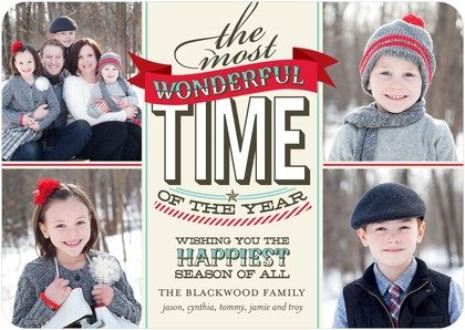 The Most Wonderful Time of Year Christmas cards, holiday greeting cards, photo cards,