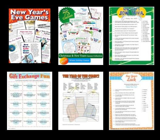 New Year's Party Printable Games