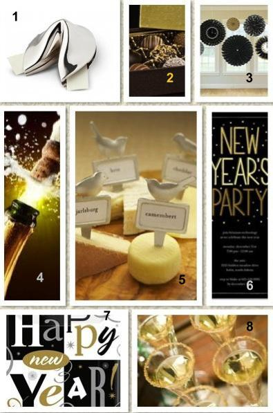 New Years Party Ideas,champagne, cupcakes, invitations,edible glitter, favors