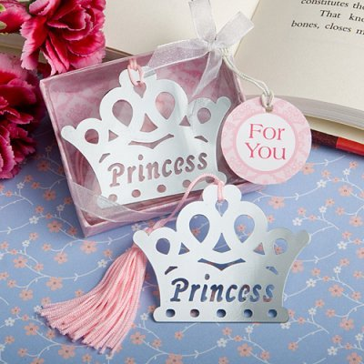 princess crown bookmark party favor, royal baby shower, princess birthday party favor, crown party favor