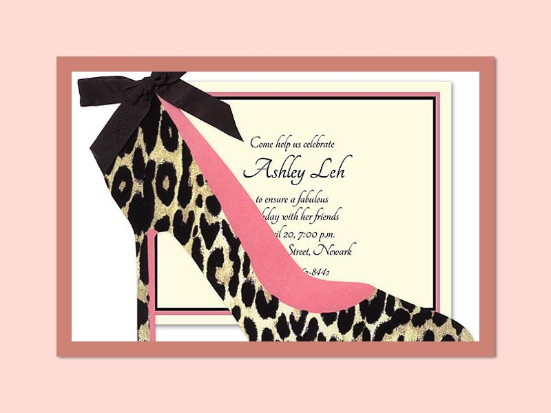 Shoe Theme Party Invitations & Stamps