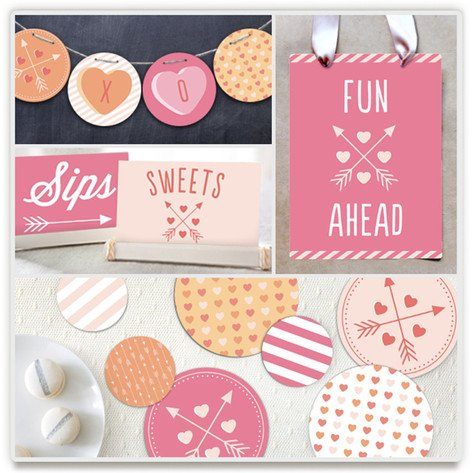Valentine's Day Conversation Heart Party Kit