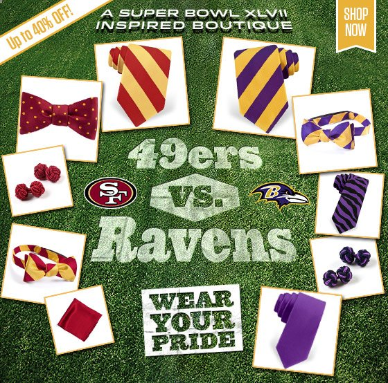 Wear your Pride - Super Bowl Inspired Ties!