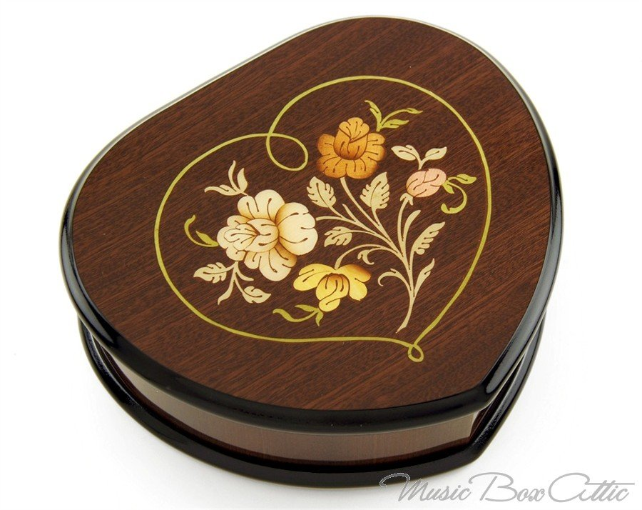 Heart Shaped Music Jewelry Box