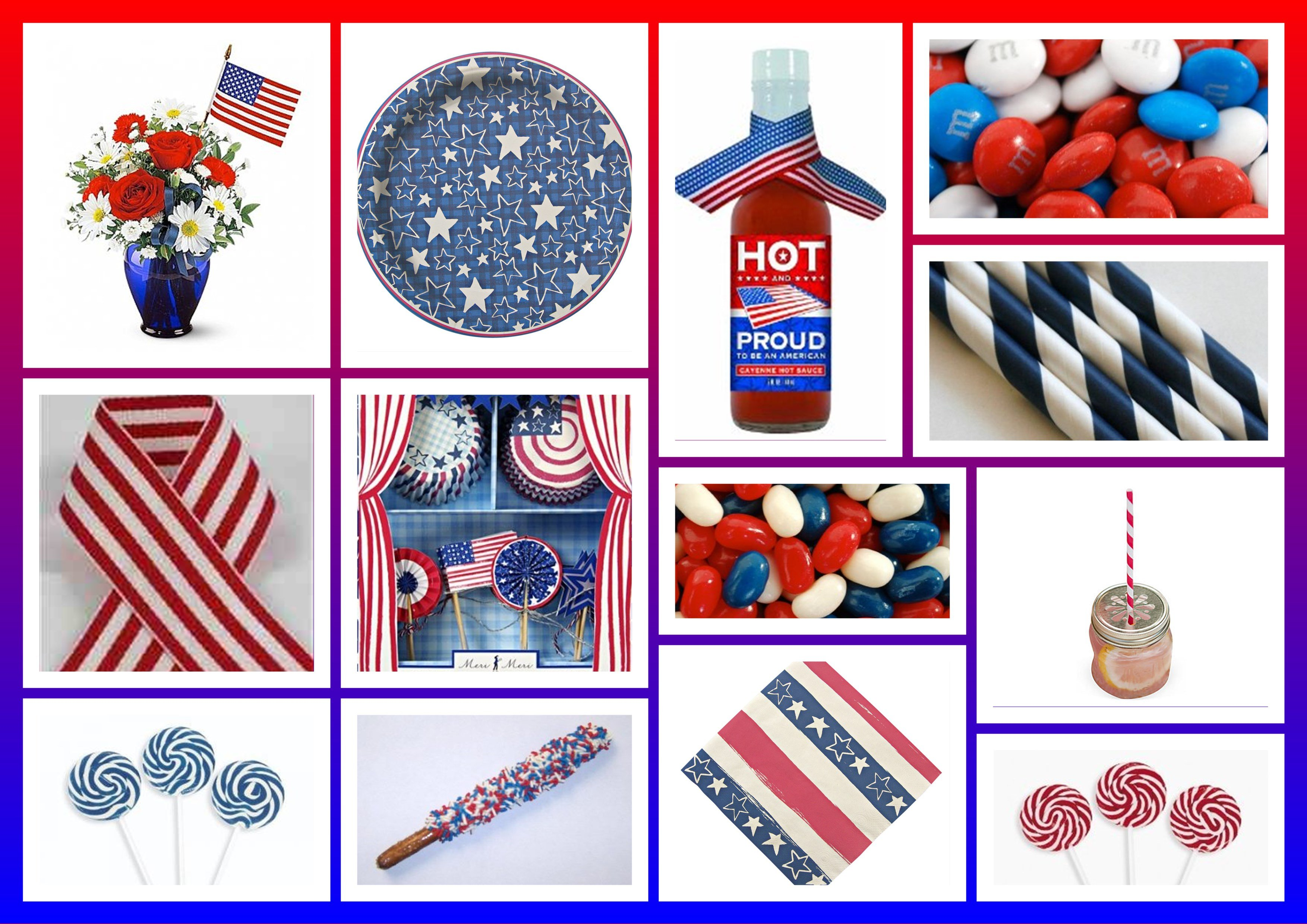 Memorial Day Party Decor Ideas Patrioitic Red