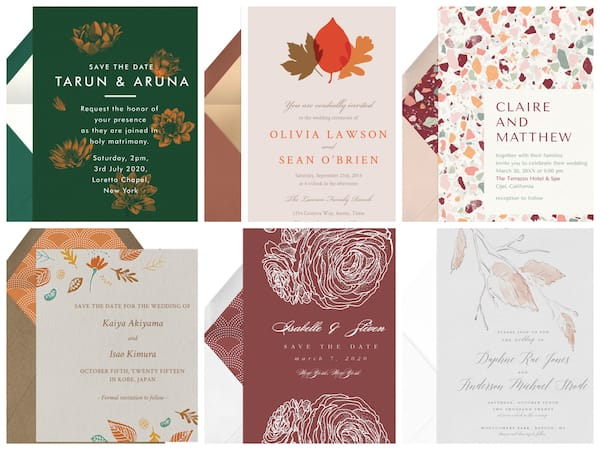 Email Fall Wedding Save the Dates