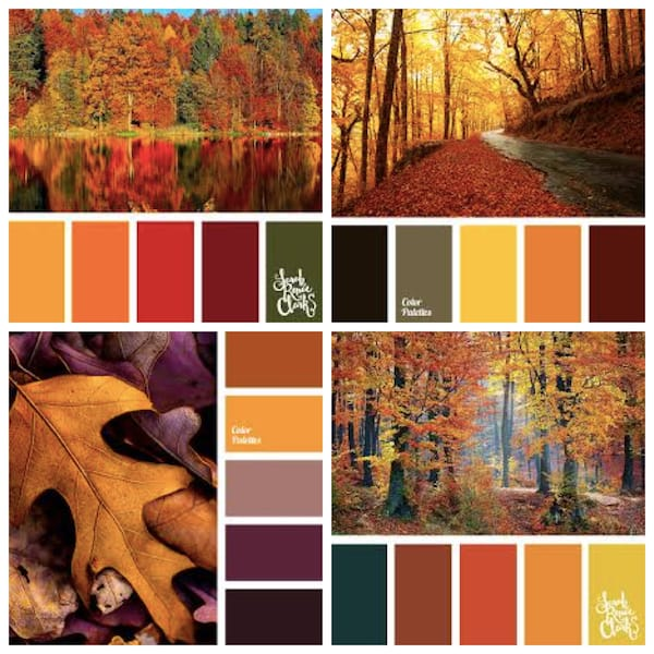 Traditional Fall Wedding Color Palettes