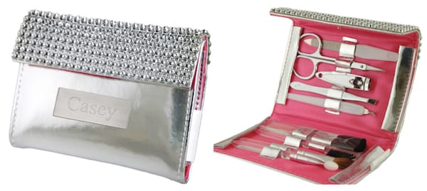 Chic Rhinestone Makeup and Manicure Set in Mini Purse